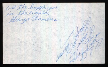 Chambers Brothers Autograph