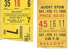 Doors Concert Ticket Stubs