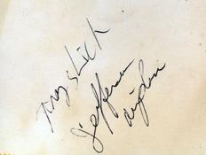Grace Slick autograph