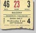 Jimi Hendrix Concert Ticket Stub