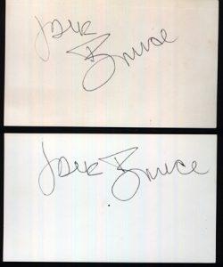 Jack Bruce Autographs