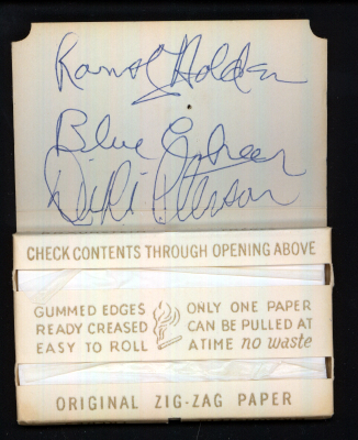 Blue Cheer Autographs, Arizona 1968